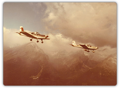 Zlín Z-42 and Z-43 above the High Tatras